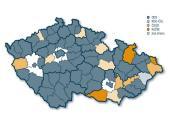 Vítězné strany v okresních městech při komunálních volbách