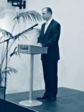 Předseda správní rady CEVRO Institutu Ivan Langer při úvodním projevu