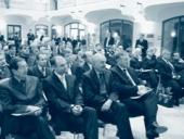 Zahájení se zúčastnili významní představitelé české politické scény. Zleva: Petr Jan Kalaš, Ivan Langer, Přemysl Sobotka a Mirek Topolánek.
