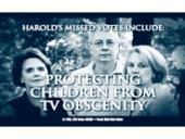 Harold Ford nehlasoval o zákonu, chránícím děti před obscénními scénami v TV.