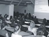 Ladislav Mrklas na přednášce ve Vsetíně