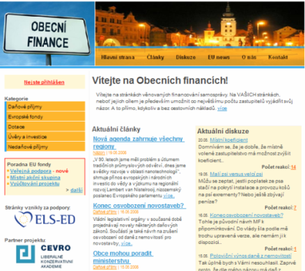 ObecniFinance.cz - portál pro zastupitele