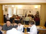 Příprava prezentace při hodině Veřejné komunikace