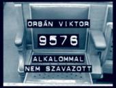 MSZP, negativní kampaň: Viktor Orbán v 9576 případech nehlasoval.