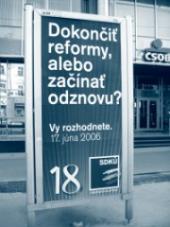 Závěrečná fáze kampaně SDKÚ-DS