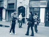 Pozorovatelé se zúčastnili kampaně na ulicích; zde v Kralupech nad Vltavou